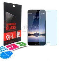 Wholesale Note3 Screen Protector - 0.33mm 9H 2.5D Premium Tempered Glass screen Protector Explosion-proof For MEIZU MX6 MX5 MX4 PRO MX3 PRO5 METAL 2 MEILAN 3 MATE L NOTE3