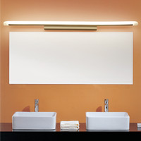 Wholesale Vanity Wall Mirror Lights - L39cm L49cm L59cm L69cm L89cm led mirror light stainless steel base acrylic mask bathroom vanity wall mounted lights FIXTURE