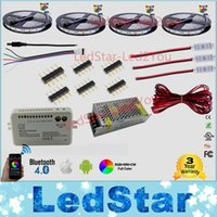 12v verstärker großhandel-30m 20m Bluetooth LED Streifen RGB RGBW Dual Farbe dimmbar 5050 3528 Wasserdicht + Mi Licht Controller + Verstärker + Netzteil