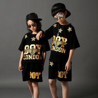 Wholesale Ladies Stylish Summer Tops - 2017 Spring Hip-hop Jazz 2 Pieces Set Women BOY LONDON Letter Hot Pants Tops Bodycon Pants Ladies Stylish Street Sporting Suits 110-180cm