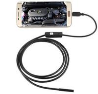 tuyau de caméra étanche achat en gros de-Imperméable à l'eau 720p HD 7mm lentille d'inspection tuyau 1m endoscope Mini USB caméra à serpent tube avec 6 LED endoscope pour téléphone Android PC