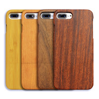 Wholesale Case Cherry Wood - Rosewood Walnut Cherry Wood Carbonized Bamboo Special Craftmanship High Quality Back Cover For iPhone X 8 7 Plus With Opp Bag