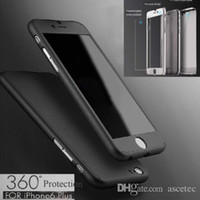Wholesale Iphone 5s Covers - 360 Case For Samsung Note 8 S8 For iPhone X 8 7 7 plus 6 6S 5 5S+Tempepred glass Full Body Cover For S7 S6 edge
