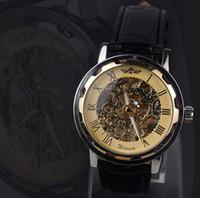 смотреть новые без тегов оптовых-высококачественные механические часы с турбийоном точность изготовления ремня мужские наручные часы relogio masculino новинка без тегов Dial Displ