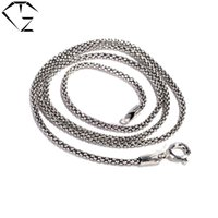 Wholesale Thai Sterling Necklace - Wholesale- 925 Sterling Silver Chain Necklace 40cm Choker for Women Necklaces 70cm Long Chains Thai S925 Solid Silver Jewelry Making