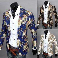 verheiratete männer anzüge großhandel-Herren Blazer Mode Blazer für Männer Anzug Herbst und Winter hochwertige Herren Velours Married Anzug plus Blazer schlanke Mann Outwear Jacke M-XXL