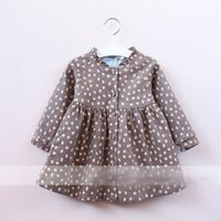 Wholesale Apple Clothes Kids - New Kids Girls Apple Ruffles Shirt Tees Candy Color Western Fashion Children Blouse Autumn Spring Lovely Clothing