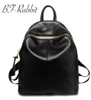 Wholesale Leather Computer Backpack For Women - Women fashion backpacks ladies casual backpack oxford waterproof cow-split leather backpacks for teenagers travel bags handbags computer bag