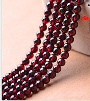 Wholesale Natural Red Garnet Bracelet - 3A 4A 5A 6A Garnet Beads Round Pure Natural Crystal Semi-finished Beaded Bracelets DIY jewelry accessories