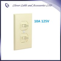 Wholesale Sets US Style Wall Two Way Switch with Panel and Configured Terminal Box