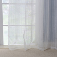 Grommet American Living Curtains   White Curtains Living Room Bedroom  Curtain Modern European American Style Sheer