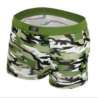 Wholesale Camouflage Boxers - Mens Underwear Plus Size Men's Boxer Shorts Fashion Breathable Modal Boxer Sport Tide men Soldier Camouflage underwear