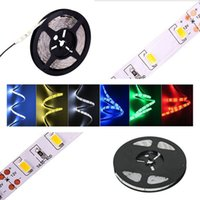 Wholesale Power Connecter - 5M 300 LED 5630 5050 3528 SMD 12V Flexible LED strip light+DC Connecter+12V 6A Power Supply Adapter Cold Warm White Blue Red Green