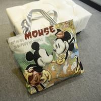 Wholesale Bear Bag Gift - Wholesale- 2017 New Large Capacity Cartoon Minnie Mouse Doraemon Bear Hello Kitty Mummy Bag Women Handbag Birthday Gift