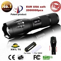 Wholesale Led Portable Battery Light - USA EU Hot E17 XM-L T6 3800LM Aluminum Waterproof Zoomable CREE LED Flashlight Torch light for 18650 Rechargeable or AAA Battery