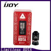 Wholesale IJoy Limitless RDTA Tank Drip Tank in Rebuildable Dripping Tank Atomizers Filling Airflow Control VS Tornado RDTA