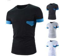 Wholesale Access Designs - 2016 Men Dress Short Sleeve T Shirts Unique Access Design Slim Fit Casual Brand Tees A8747