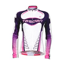 Wholesale Long Sleeve Mtb Jersey Summer - Tasdan Women Cycling Jersey Long Sleeve Top Shirt Bicycle Jersey UV Proof Summer MTB Road Bicycle Bike Jersey Breathable