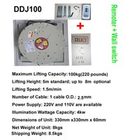 100KG 7M Drop Wall Switch + télécommande Chandelier Hoist Lighting Lifter Système de levage de levage électrique 110V-120V, 220-240V