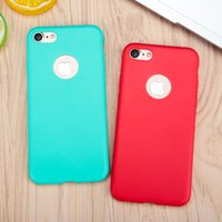 Wholesale Iphone 5s Silicon Cases - New Arrival Case For iPhone x 7 8 plus Transparent Candy Colors Soft TPU Silicon Phone Cases For iPhone 8 6 6s 5 5s SE 7 7 Plus