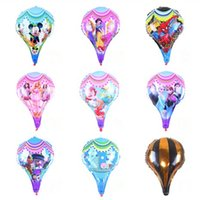 Wholesale Hand Inflatable - ( 50 Pieces   lot ) Brand new cartoon printed foil balloons hand sticks helium balloon muli-styles inflatable air balloons