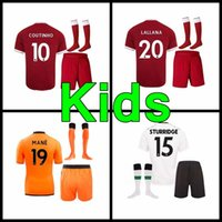 Wholesale Football Shirt Kids Kit - 17 18 kids soccer Jersey 2017 2018 Home away M.SALAH Mane Clyne COUTINHO LALLANA FIRMINO Lucas Sturridge shirts Football kids kit Jersey