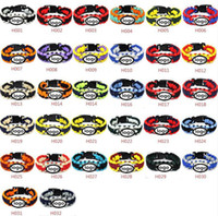 Wholesale Sport Bracelet Team - Mix Styles Football Team Paracord Survival Bracelets Custom Made Camping Sports Bracelet Customized logo team umbrella bracelet