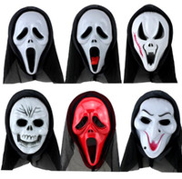 v pour vendetta prop costume achat en gros de-Masque Nouveau plastique Halloween pour adultes Fashion V- Vendetta Masque Costume Boule décorative Props Full Face 7COULEURS Ribbon Blush Parti Cosplay