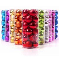 Wholesale Christmas Tree Ball Ornaments Wholesale - 24pcs Christmas Tree Xmas Balls Decorations Baubles Party Wedding Ornament