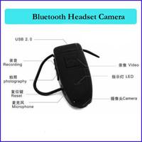 Wholesale Headset Hidden Camera - 4GB bluetooth camera Bluetooth Earphone headset Style mini spy Camera dv dvr Bluetooth Earphone hidden Camcorder