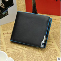 Wholesale Korean Selling Model - Taobao explosion models selling men's long section of the blue iron rim M package wallet Wallets Creative Korean thin a generation of fat