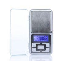 escala oz al por mayor-Nuevo Llega 500g / 0.1g Mini Balanza Electrónica de Bolsillo Digital Joyería Pesaje Función de Cuenta Balance Azul LCD g / tl / oz / ct