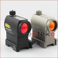 Wholesale Rifle Riser - Black 20mm Rails Tactical Red Dot Illuminated Holographic Sight T-1 with Riser QD Mount ST-1