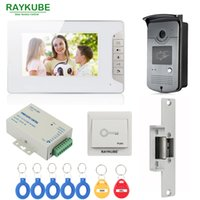RAYKUBE Wired Video Door Phone Sistema de intercomunicação com 7 polegadas LCD Monitor RFID Reader Camera Strike Lock