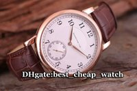 Wholesale Cheap Hand Watches - Brand Luxury 1815 Manual Wind Gent Watch Super Clone 18k Rose Gold 233.032 Silver Dial 206.025 Automatic Cheap Leather Strap Mens Watches