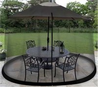 Circular black patio tables - Outdoor Umbrella Table Screen Black Mosquito Bug Insect Pest Net Patio Cover