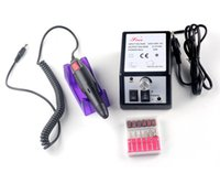 kit de taladro profesional al por mayor-¡¡¡Precio de fábrica!!! Barato profesional de manicura pedicura taladro eléctrico Nail Pen Juego de máquina Juego de archivos BitS 110V 220V DHL