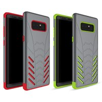 Wholesale gold bat - For Samsung Note 8 Case 2in1 Bat Armor Hybrid Soft TPU Rugged Shockproof Back Cover Phone Cases for Samsung Galaxy Note 8