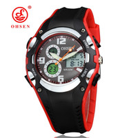 Wholesale Red Ohsen - OHSEN Relogios Masculinos wholesale watches men luxury brand Digital Display Date Alarm Stopwatch 2016 New Waterproof Sports Watches Men