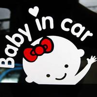 ingrosso adesivo di avvertimento parabrezza-17 * 14 cm Baby On Board Baby in autoadesivo adesivo riflettente auto Car Decal parabrezza posteriore porta finestra avviso decalcomania del vinile