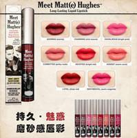 Wholesale Matt Lipsticks - lowest price  High quality New Arrivals HOT makeup Meet Matt(e) Hughes long lasting liquid lipstick lipgloss 7.4ml