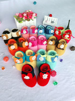 Wholesale Hand Crochet Baby - Wholesale 0-1 years old free size 10CM indoor Warm hand knitting baby shoes