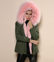 Wholesale wholesale furs coats - 2015 high fashion animal real furs coat,mrs furs unisex warm winter army green coat