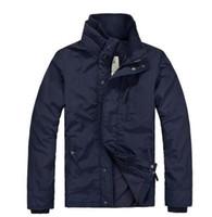 Wholesale Winter Trenchcoat - Top sale Men's windbreaker Jackets Navy Black waterproof fleece down hoodie outdoor men Outerwear Coats Men's winter Trenchcoat