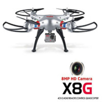 Wholesale Toy Helicopters Wireless - On Sale SYMA X8G Headless Mode 2.4GHz 6 Axis Wireless RC Quadcopter with 8.0MP Wide Angle HD Camera RTF RC Helicopter Drones Toy