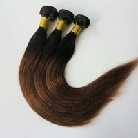 Wholesale 33 Body Wave - Ombre Brazilian human Hair Extensions straight hair wefts 1B&33# Two tone Peruvian Malaysian Indian human hair weave bunldes