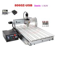 Wholesale Cnc Engraving Machinery - 2016 new 3 axis mini cnc engraving machine 8060Z-USB connection for metal woodworking cnc machinery