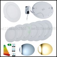 Wholesale Led Round Flat Panel Light - Dimmable 3W 6W 9W 12W 15W 18W 21W Round Shape LED Ceiling Panel Downlight Flat Lamp High Power Day Warm White Lighting AC85-265V LLWA182