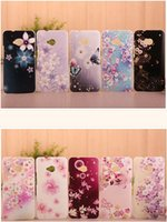 paint polycarbonate - MANDERM Polycarbonate painting with Rhinstone decoration flower series phone cases for HTC One M7