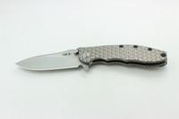 katlanır bıçaklar zt toptan satış-Bir DAI Özel Bıçak Sıfır Tolerans ZT0562 Katlanır Bıçak Kral Çelik M390 Kafes desen Titanyum Kolu Pürüzsüz zt 0562 EDC Taktik Araçları